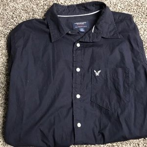 American eagle navy button down